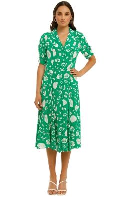 Country-Road-Print-Collared-Shirt-Dress-Vivid-Green-Front