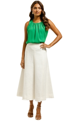 Country-Road-Textured-Midi-Skirt-Antique-White-Front