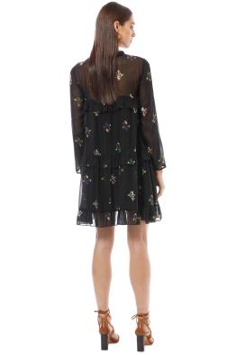 b541b5e2acc6 Cynthia Rowley - High Tide Tiered Ruffle Knee Length Dress - Black - Front