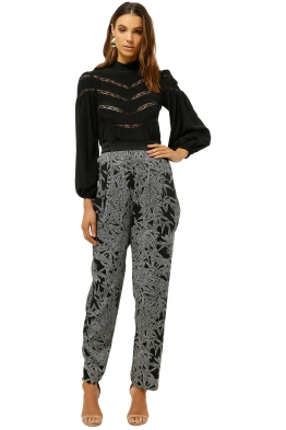 Diane-Von-Furstenberg-Printed-Silk-Blend-Crepe-Tapered-Pants-Black-Print-Front