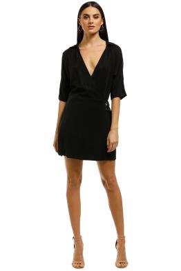 Eclipse-Wrap-Dress-Black-Front
