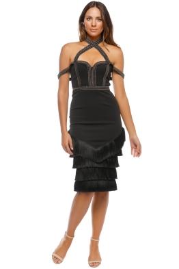 Eliya - Sphynx Dress - Black - Front