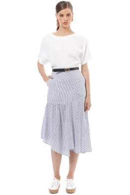 Elka Collective - Deanna Skirt - Blue - Front