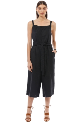 Elka Collective - Francesca Jumpsuit - Black - Front