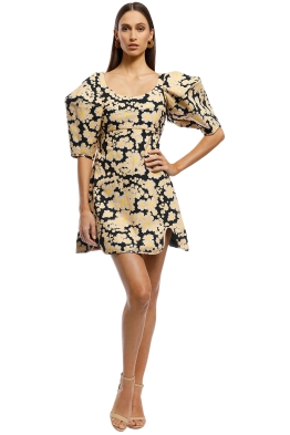 Ellery - Deliberate Distance Cone Dress - Yellow - Front