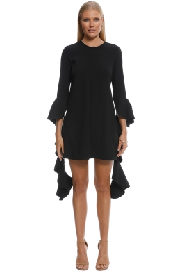 Ellery - Kilkenny Frill Sleeve Mini Dress - Black - Front