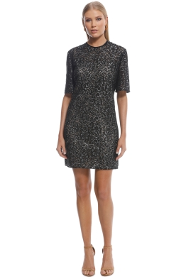 Ellery - Lace SS Mini Dress - Black - Front