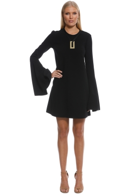 Ellery - Preacher Mini Dress - Black - Front