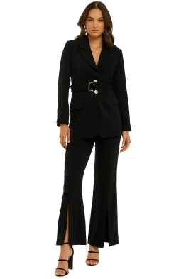 Elliatt-Coppelia-Blazer-and-Pant-Set-Black-Front