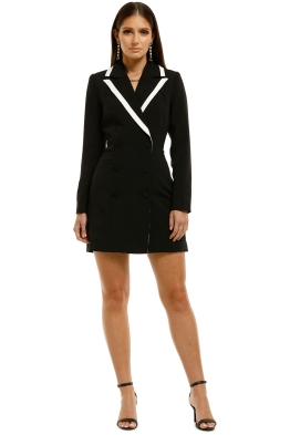 Elliatt-Kenzie-Blazer-Dress-Black-Front