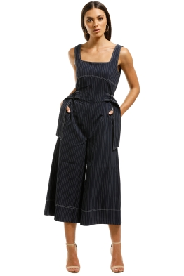 Elliatt-Lady-Jumpsuit-Navy-Stripe-Front