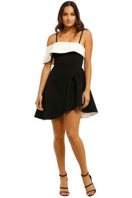 Elliatt-Mila Dress-Black-White-front