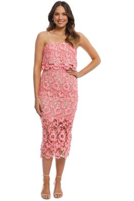 Elliatt - Bacio Dress - Melon - Front