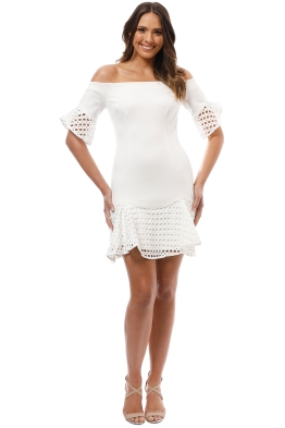 Elliatt - Carnelian Dress - White - Front