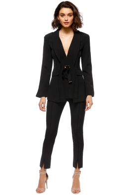 Elliatt - Ceremony Jacket and Pant Set - Black - Front