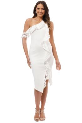 elliatt crystal dress white front