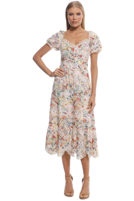 Elliatt - Faith Dress - Pink Floral - Front