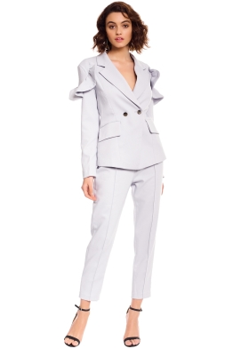 Elliatt - Harmony Jacket and Pant Set - Blue - Front