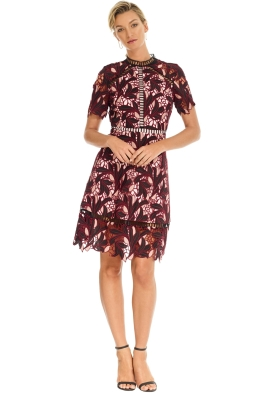 Elliatt - Montague Dress - Merlot - Front