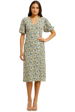 Faithfull-Marta-Midi-Dress-Vionett-Floral-Print-Front
