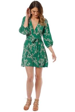 Faithfull - Margot Dress - Green Cap Estel Floral - Front
