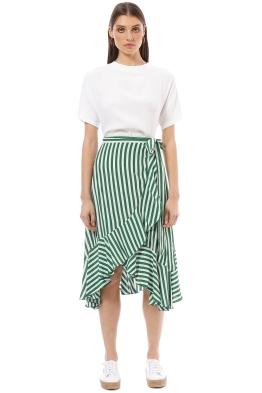 Faithfull - Tramoni Skirt - Zeus Stripe - Stripe - Front