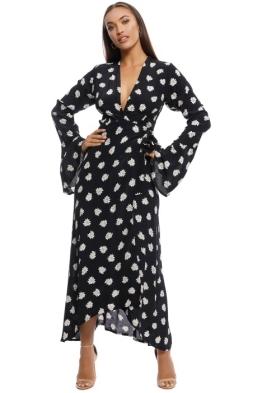 Faithfull the Brand - Carioca Wrap Maxi Dress - Black - Front