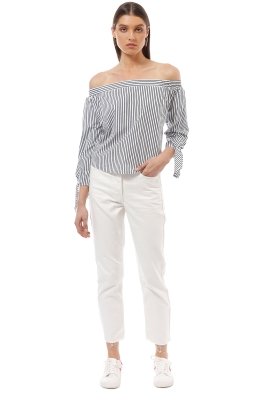 Faithfull the Brand - Cartagena Top - Cove Stripe Print - Front