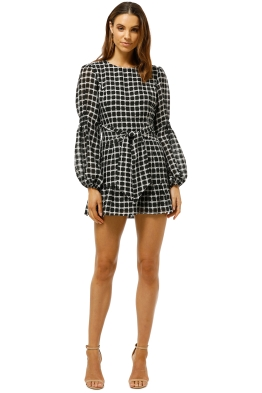 Finders-Keepers-Picnic-Mini-Dress-Black-White-Front