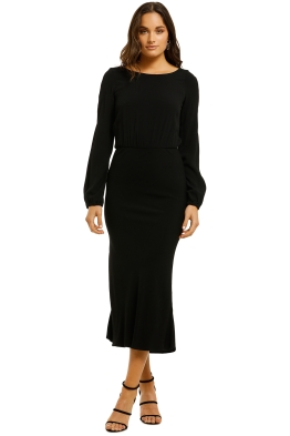 Flynn-Skye-Mabel-Midi-Dress-Black-Front