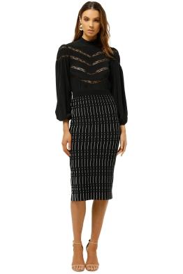 Friend-of-Audrey-Alderidge-Print-Crepe-Knit-Skirt-Black-Print-Front
