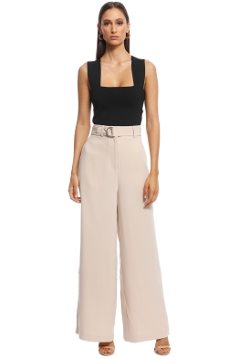 Friend of Audrey - Gemma Tailored Wide Leg Pants - Nude - Front