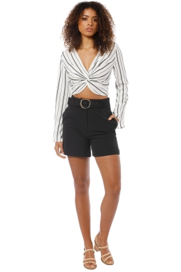 Friend of Audrey - Toni Tailored Shorts - Black - Front