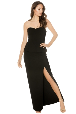 George - Ida Gown - Black - Front