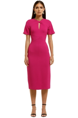 Ginger-and-Smart-Advocate-Fitted-Dress-Fuschia-Front