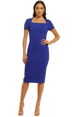 Ginger-and-Smart-Amplitude-Dress-With-Sleeve-Persian Blue-Front