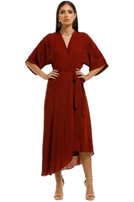 Ginger-and-Smart-Panacea-Wrap-Dress-Rust-Front