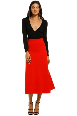 Ginger-and-Smart-Valour-Knit-Skirt-Geranium-Front