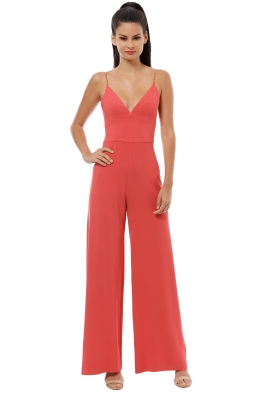 Ginger and Smart - Drift Jumpsuit - Coral - Front