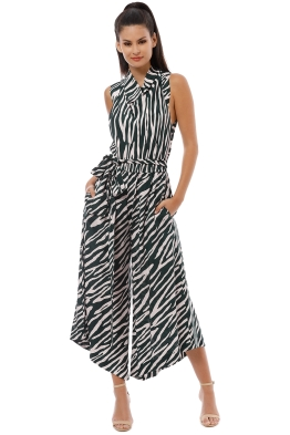 Ginger and Smart - Emperor Jumpsuit - Zebra Print - Front