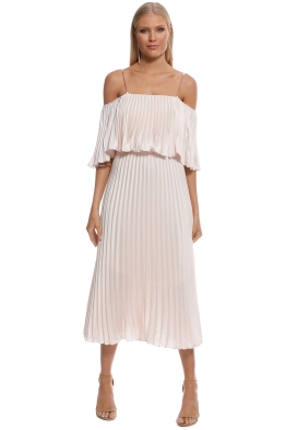 Ginger & Smart - Depth Pleat Off-shoulder Dress - Front