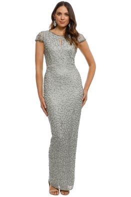 Grace and Blaze - Jenny Sequin Detailed Gown - Green - Front