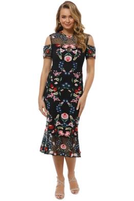 Grace and Hart - Cavalier Cold Shoulder Dress - Black - Front