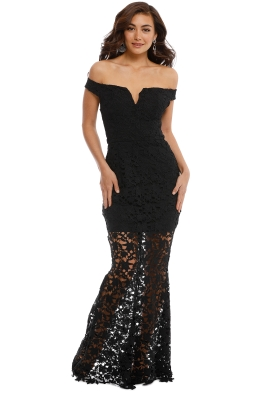 Grace and Hart - Heart Beat Gown - Black - Front