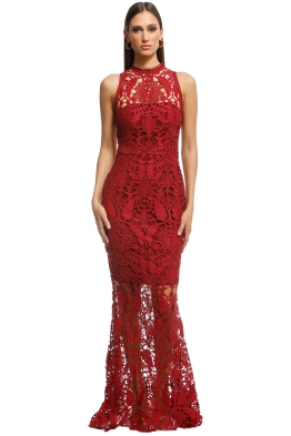 Grace and Hart - Prosecco Gown - Red - Front