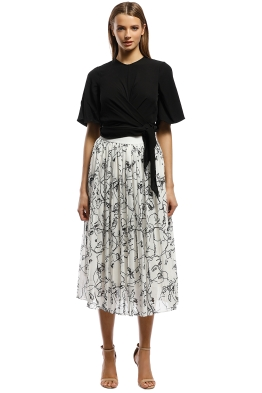 Grace Willow - Adeline Skirt - Stranger - Black and White - Front