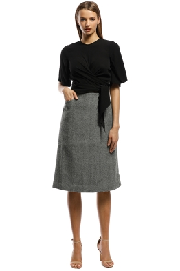 Grace Willow - Gracia Skirt - Grey - Front
