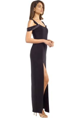 8fc4b597b20 Halston Heritage - Cold Shoulder Fitted Gown - Black - Front