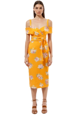 Pasduchas - Marvel Shoulder Midi Dress - Mango - Front