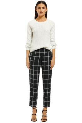 J.Crew - French Girl Slim Crop Pants - Navy - Front